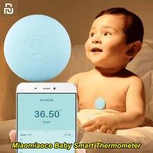 Termômetro digital youpin miaomiaoce, termômetro clínico inteligente para bebês, monitor constante de medição accrata, alarme de alta temperatura