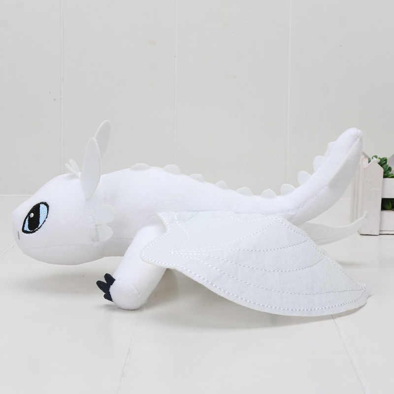 3 5 pçs/lote Como Treinar O Seu Dragão Fúria Da Noite Desdentado Luz Fúria Plush Macio Stuffed Boneca Dragão Do Brinquedo Do Bebê