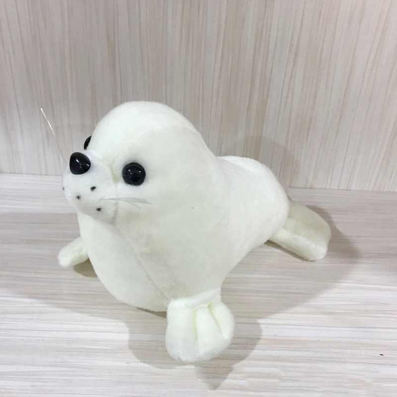 1pc śliczne 25cm miękkie Sea Lion pluszowe zabawki Sea World zwierząt Seal pluszowe wypełnione lalki poduszka do spania dla dziecka dzieci dziewczyny prezenty