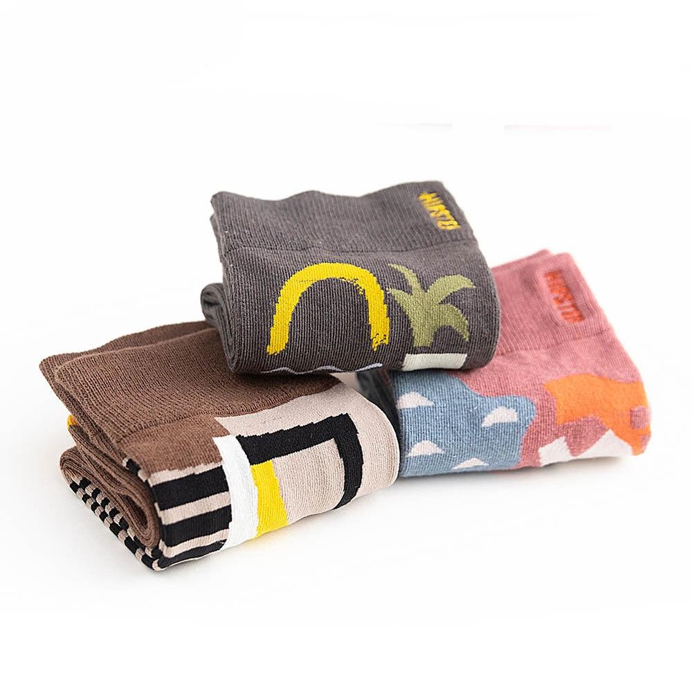 2019 Autumn Winter Socks Unisex Painting Graffiti Style Cotton Harajuku Happy Colorful Personality Middle Tube Couple Sock