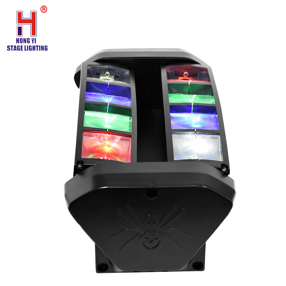 Professional disco lighting 8x10W 4in1 RGBW spider led moving head beam light 8 eyes led DMX DJ equipment-in Stage Lighting Effect from Lights & Lighting on Hong Yi Stage Light