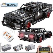 1655 adet şehir RC/olmayan-RC MOC yarış araba modeli yapı taşı uzaktan kumanda yüksek teknoloji kapalı-road spor araç tuğla oyuncaklar Boys için