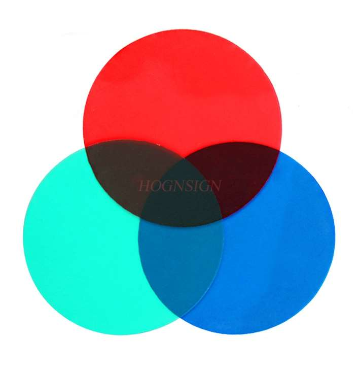 Three Primary Color Filter Color Translucent Film Red Green Blue Three Color 50mm Children Optical Experiment Fun Instrument