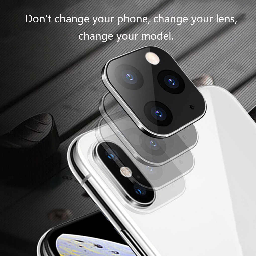 Lente de la caja modificada 11 Cámara PROMAX aplicable para iPhone X XS XSMAX Seconds cambio 11 pegatina de lente modificada 11PROMAX