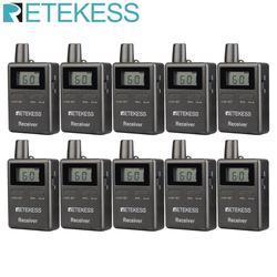 Retekess 10pcs TT105 2.4GHz Wireless Receiver Tour Guide System Traveling Museum Visit Conference Simultaneous Interpretation