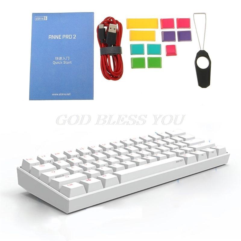 Mechanical-Gaming Keyboard Gateron-Switch Anne Pro2 Bluetooth-4.0 60-% 61-Keys RGB Type-C