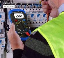 HoldPeak HP-33D Professional Smart Digital Meter Multimeter Auto Range 600V 10A Resistance Diode hFE Battery Tester holdpeak dcv resistance capacitance smd tester professional smt component tester scan mode function digital multimeter 990a