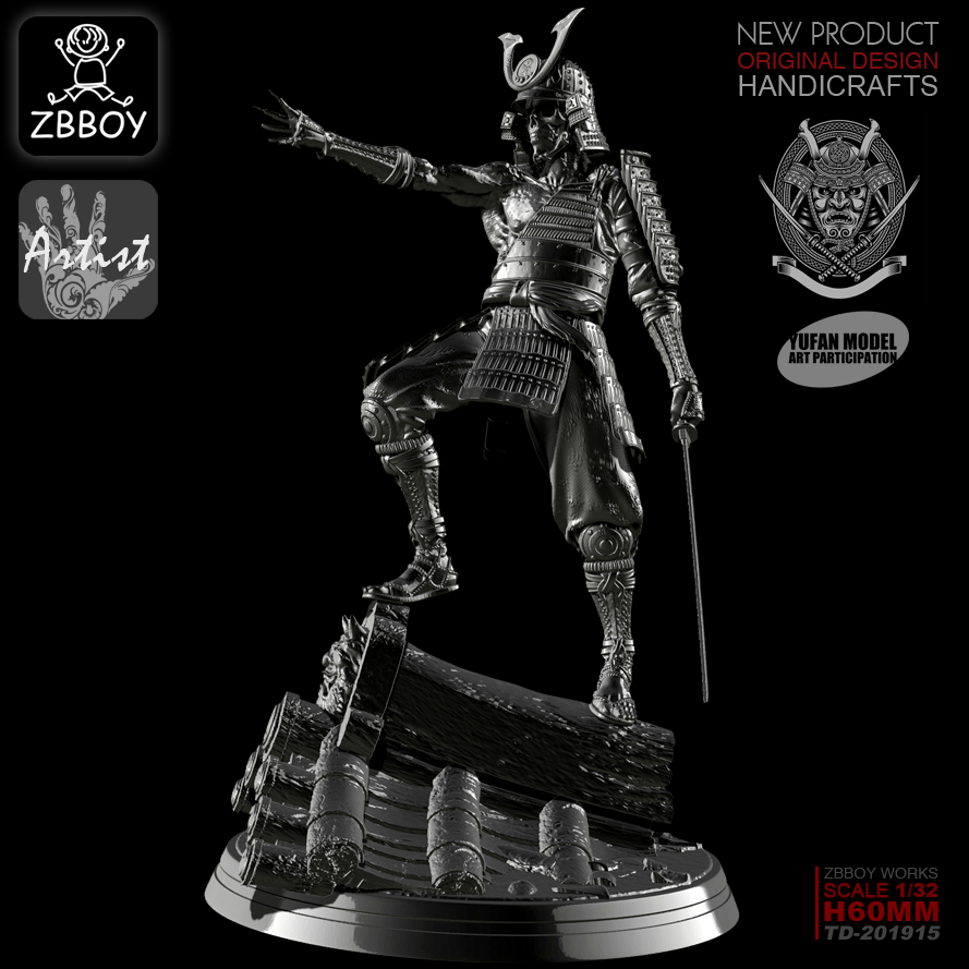 1/32 Resin Figures Kits Magic Soul Warrior Resin Soldier Model Self-assembled TD-201915