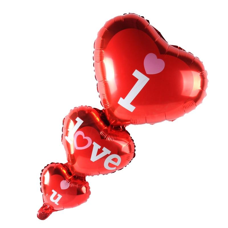 1 шт. большой Размеры I Love You Алюминий шарик из фольги в форме свадебные шары для украшения на годовщину свадьбы День Святого Валентина ухажив...