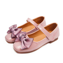 Kids Girls Shoes 2019 Fashion Bowknot Leather School Dress Sneakers Spring Autumn Wedding Party Shoe for