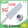 EOTH 1 2PCS 5G wifi 12dbi Antenna ROUTER White antena SMA Female Connector IOT high-gain signal LTE carro cellular booster modem