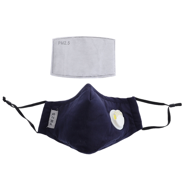 Anti Pollution Mask Dust Respirator Washable Reusable Masks Cotton Unisex Mouth Muffle For Allergy/Travel/ Cycling Flu Face Care 2