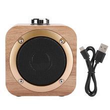 Speaker Enjoy Bocina Wooden Bluetooth Yellow Portable Music-Equipment