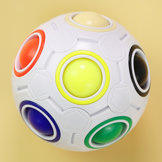 Rainbow Spherical Football Ball Pouch Magic Fidget Ball Color-Matching Puzzle Game Fidget Toys 1