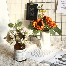 5/10/25 Head European Sunflower Flower Bouquet Wedding  Home Decoration Artificial For Party Decor DIY Bridal D25