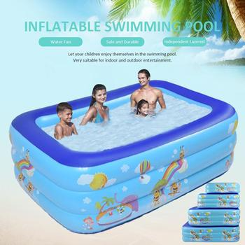 Inflatable Swimming Pool Thick Safe Inflatable Pool Summer Water Party Supply For Baby Kids Adult Outdoor Entertainment