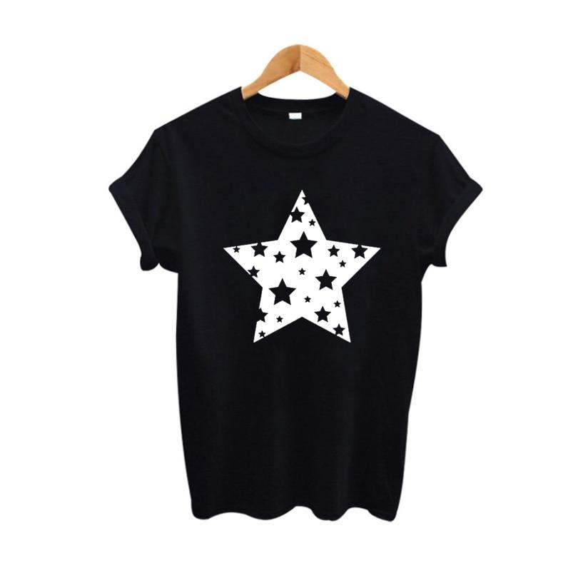 Женская футболка со звездами, Красивые Забавные футболки с графикой, женская футболка Tumblr saking, лето 2018, хипстерские женские топы