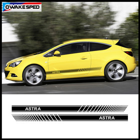 Car Door Side Skirt Sticker For Opel Astra GTC OPC 3-5 Doors Racing Sport Stripes Both Side Auto Body Decor Decals (4)_副本