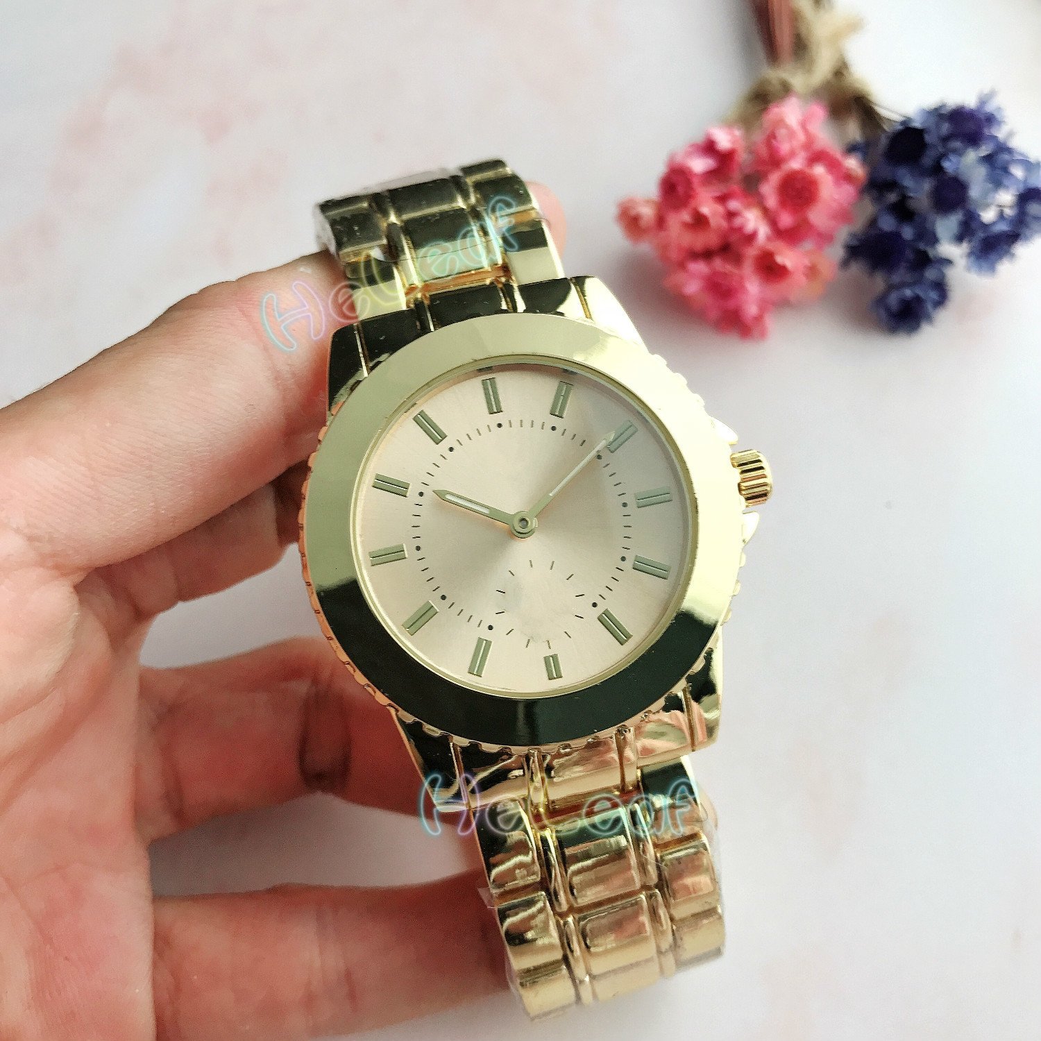 Luxury Cute Bear Ladies Watches Hot Sale Top Lady Silver Gold Full Steel Quartz Watch Female Clock Montre Femme Relogio Feminino