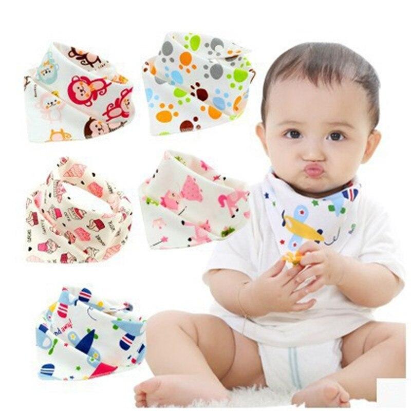 Babadores para bebês, babadores de algodão triângular dos desenhos animados da criança bandana babador bícaras para bebês recém-nascido pano absorvente