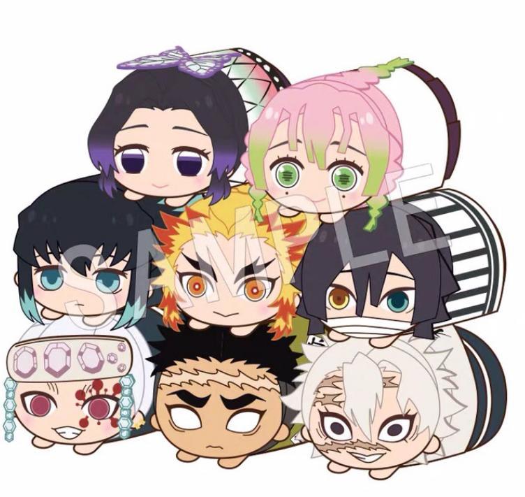 Demon Slayer Kimetsu no Yaiba mochi Kororin stuffed mascot all six types