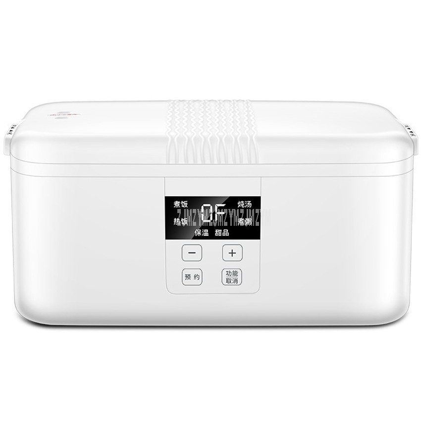 1.2L Double Ceramic Tank Portable Electric Rice Cooker Rice Cooking Machine Timing Cooking Congee Warm Food Heating Lunch Box Rice Cookers    - title=