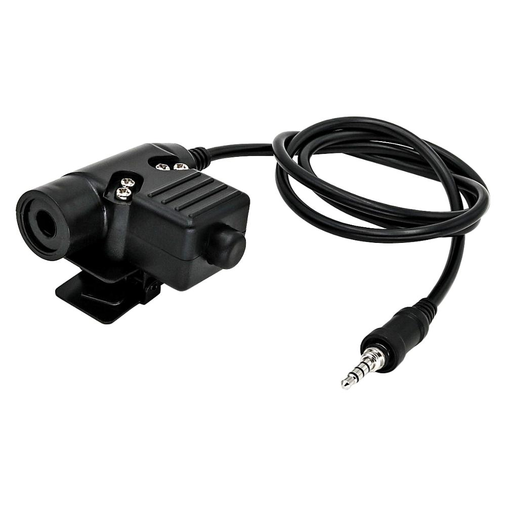 U94 1 Pin Ptt Tactical Headset Military Adapter Plug For Yaesu Vertex VX-6R VX-7R VX6R VX7R FT-270 VX-127 VX-170 Walkie Talkie
