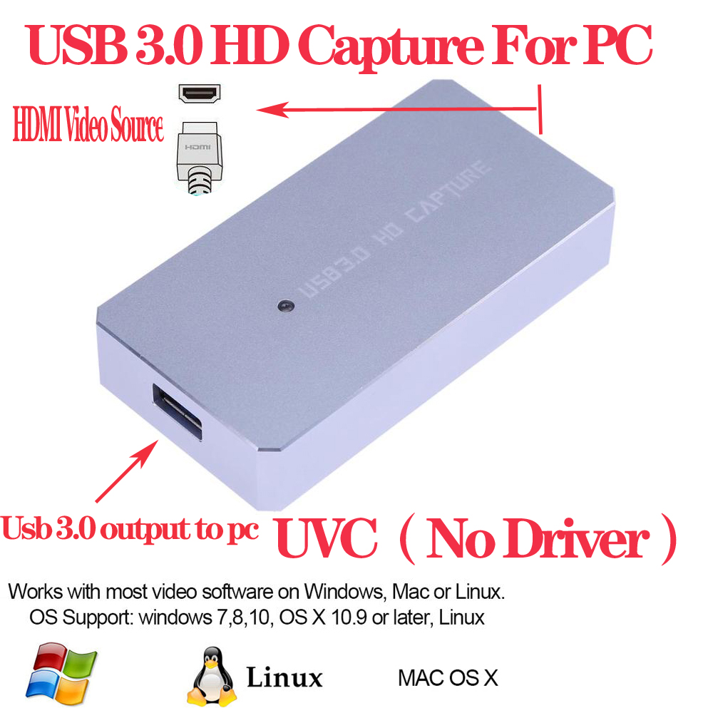EZCAP 287P HD Video <font><b>Capture</b></font> <font><b>Card</b></font> <font><b>HDMI</b></font> Video Source to PC by <font><b>USB</b></font> <font><b>3.0</b></font> 1080P 60FPS Video Recorder Box For PS4 PS3 Xbox One image
