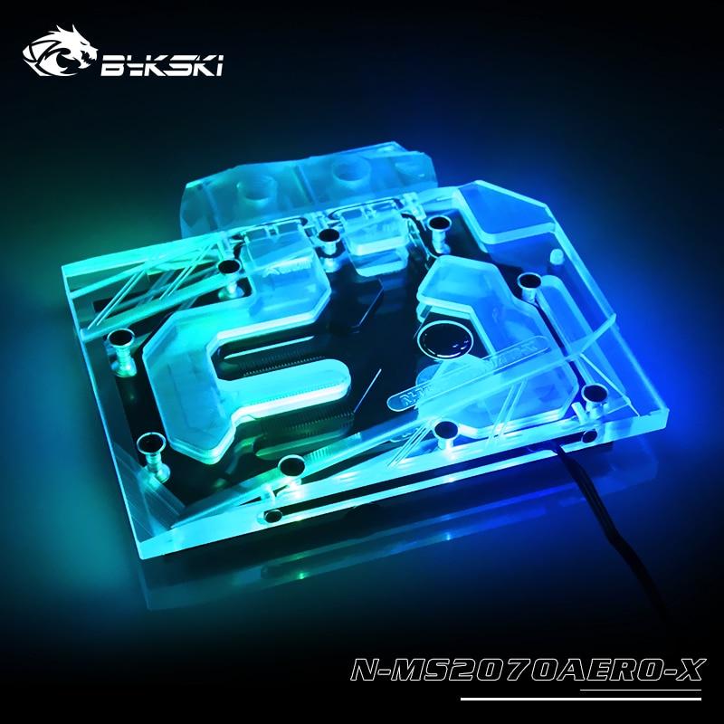 Bykski Water Block Use For MSI GeForce RTX2070 AERO ITX 8G / Full Cover Copper Radiator Block / 3PIN 5V A-RGB / 4PIN 12V RGB