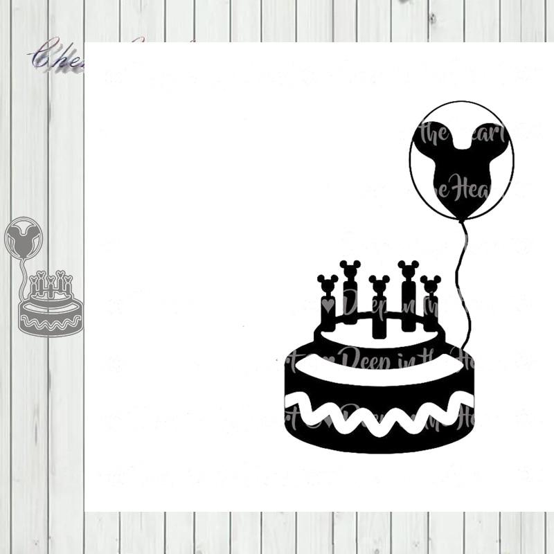 Metal Cutting Dies Birthday Cake Stencils For DIY Scrapbooking Decorative Embossing Handcraft Die Cutting Template