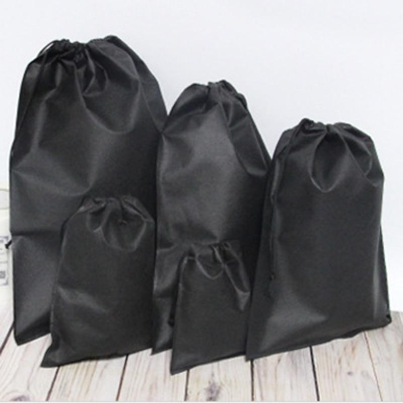 Fashion Non-woven Fabrics Drawstring Bag Shoes Travel Portable Organizer Toiletry Bag Case Clothes Backpacks Shopping Bag