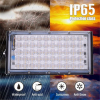 50LED 4500lm Flood Light AC200 240V 50W Outdoor Super Bright Security Light Waterproof Landscape Wall Light Warm White/White|Floodlights| |  -