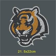 SINUAN Rhinestones Heat Transfers Hot-Fix Motif Tiger Design Clothes Applique Diy Crystal Craft Stickers For