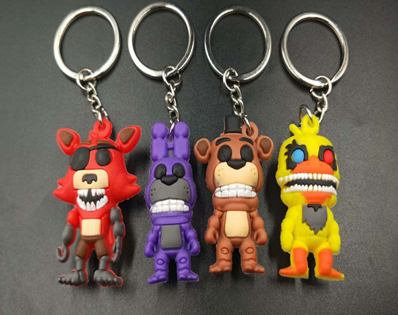 Kids Toys Keychain Key-Ring Action-Figures-Toys Freddy's Bonnie Gift Anime Game FNAF