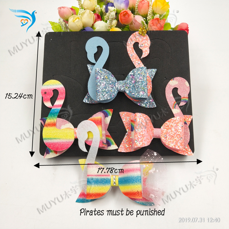 Swan bow Christmas decorationsdie cutting Wooden dies fit Scrabooking