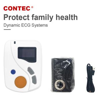CONTEC TLC6000 dynamiczny EKG EKG systemy 12-realizacji 48-w jeździe godzinnej EKG oprogramowanie PC tanie i dobre opinie Z Chin Kontynentalnych Elektroniczne urządzenie do pomiaru tętna