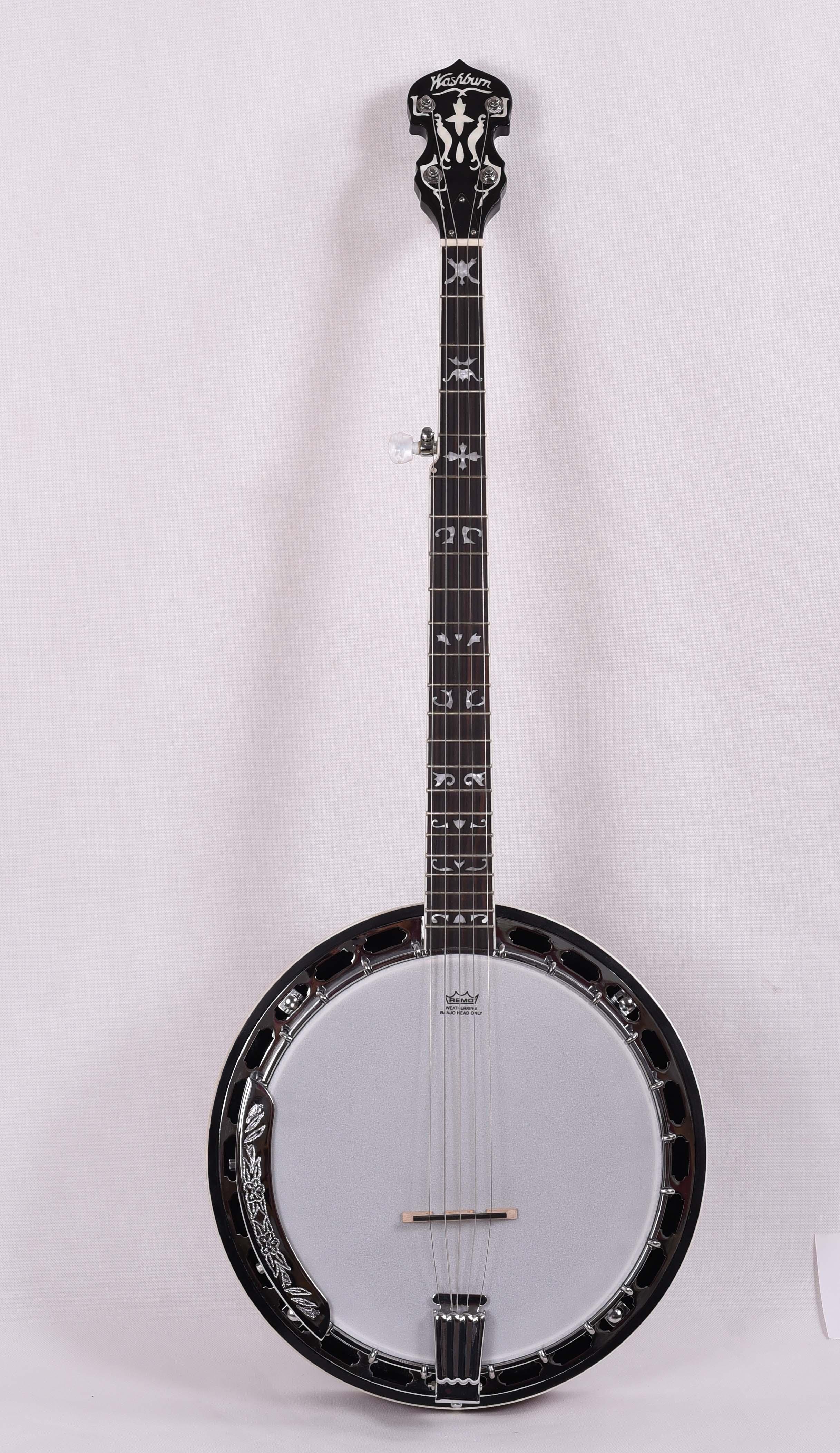 Feeling 5 cuerdas abierto blanco Jade Banjo instrumento de música FBJ-17