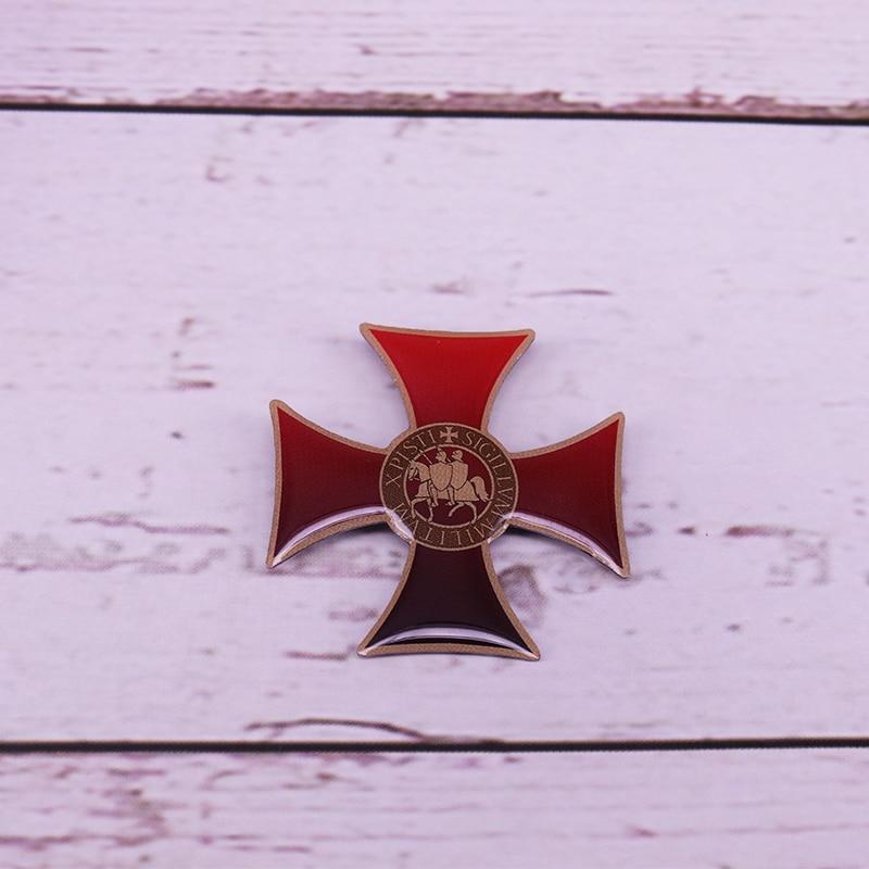 Рыцарские тамплиеры, эмалированная булавка, крестоносцы, соломоны, значок для храма, мужской масонский подарок