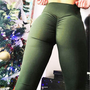 Women's Leggings Butt-Lift-Pants Capris Stretch Deporte Ruched Push-Up Workout Sexy High-Waist