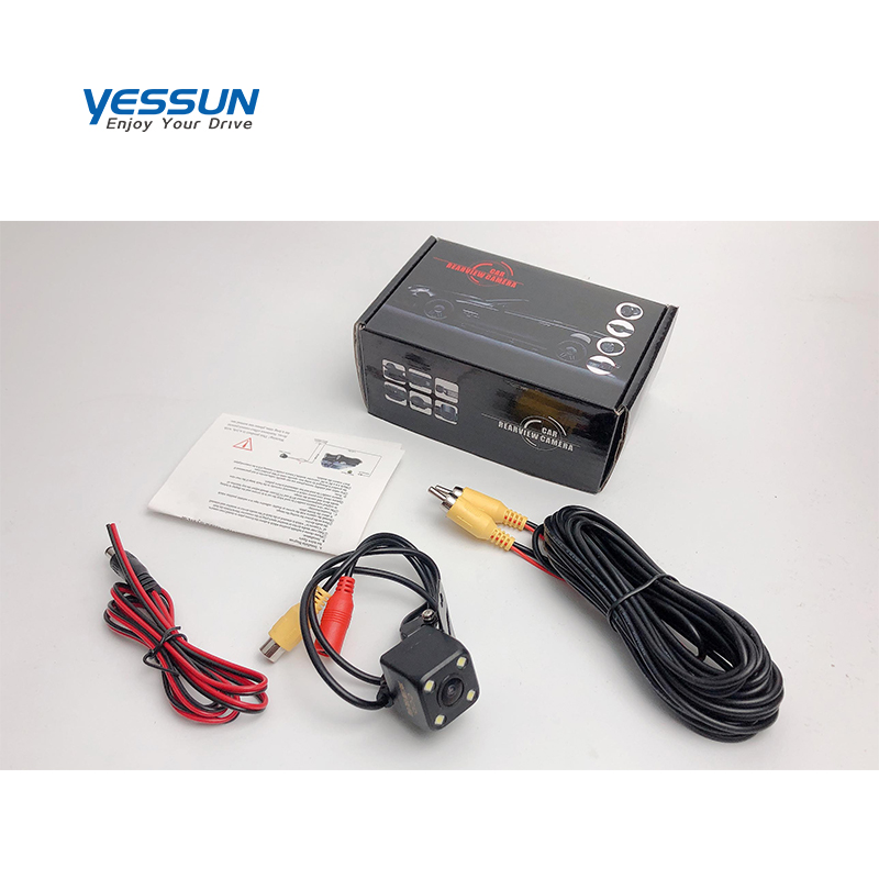 Yessun Auto Rückansicht Kamera 4 LED Nachtsicht Rückfahr Auto Parkplatz Monitor auto kamera Für Lada Granta 2011 ~ 2019