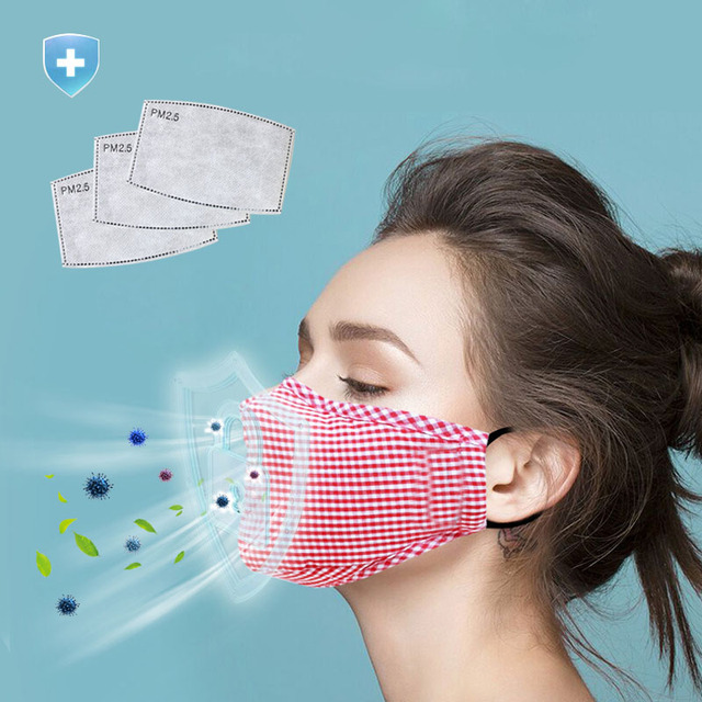 Anti Pollution Cotton PM2.5 mouth Masks anti dust mask Activated carbon filter Windproof Mouth-muffle bacteria proof Flu Face