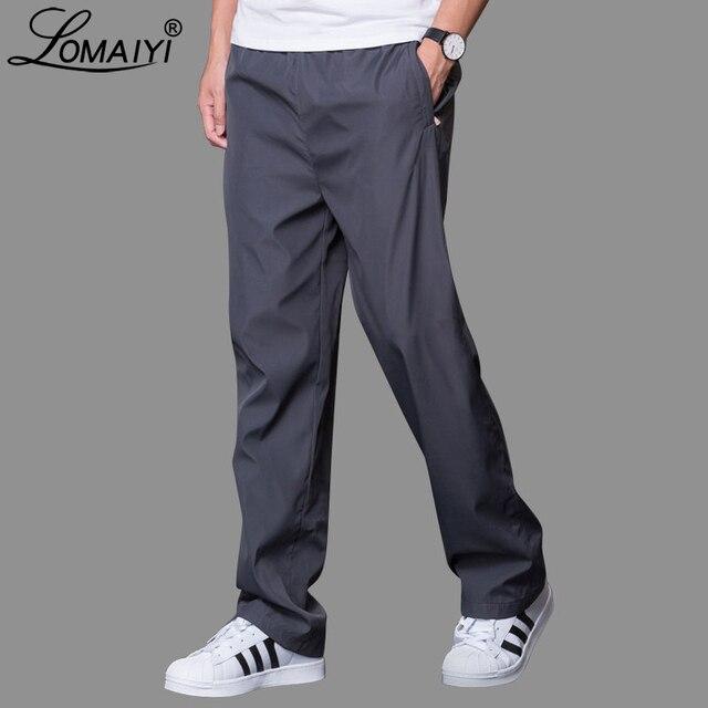 Plus Size 6XL Men's Summer/Autumn Pants Men Casual Pants Mens Breathable Quick Dry Trousers Male Loose Wide Leg Pants AM412