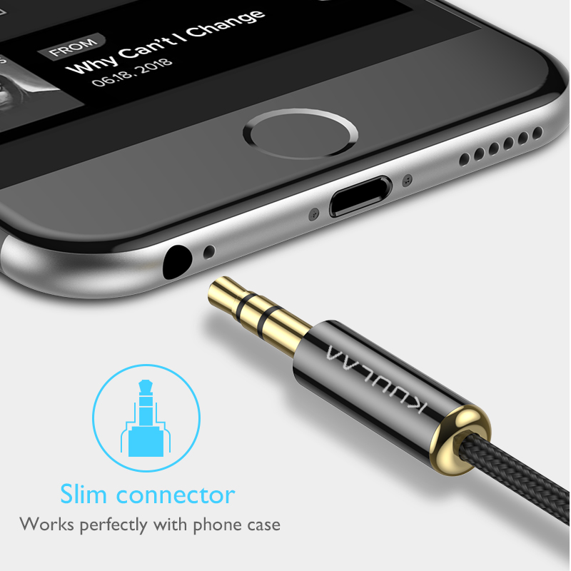 KUULAA Jack 3.5 Audio Cable 3.5mm Speaker Line Aux Cable for iPhone 6 Samsung galaxy s8 Car Headphone Xiaomi redmi 4x Audio Jack