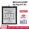 New Original 2900mAh Phone Battery For BQ Aquaris X5 Genuine Replacement Batteries Bateria With Gift Tools