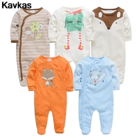 Kavkas 2019 5pcs jumpsuit ready stock 0 12m cotton clothing climbing clothing boy cartoon printing clothing
