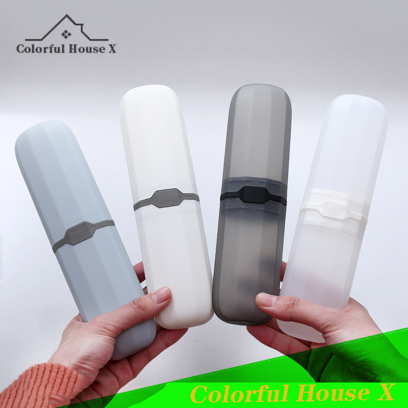 Environmental Protection PP Material Travel Toothbrush Box Dental Storage Case Multifunctional Toothbrush Protective Cover White