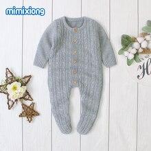 Barboteuse pour bébés, vêtements en tricot pour nouveau né, combinaison à manches longues pour nourrissons garçons et filles, vêtements pour enfants de 0 à 24 mois
