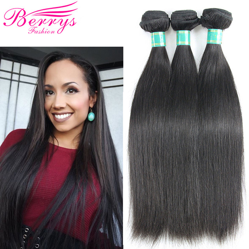 Brazilian Virgin Hair Straight Hair Extensions 3 Bundles Lot 8 34 Inch Double Machines Weft Natural