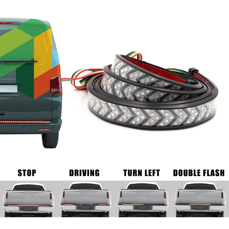 Двухцветная светодиодная лента для багажника автомобиля, трехрядная 4 функциональная Светодиодная лента с поворотным сигналом для джипа, пикапа, внедорожника, Dodge|Сигнальная лампа|   | АлиЭкспресс