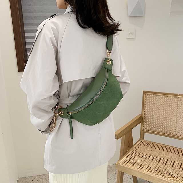 Fashion Chain Fanny Pack Banana Waist Bag New Belt Bag Women Waist Pack Casual
